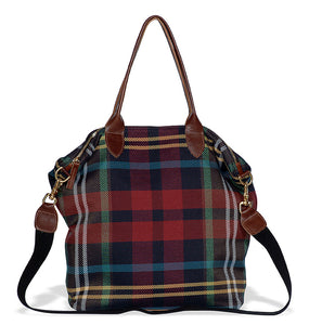 Old School Plaid Tote