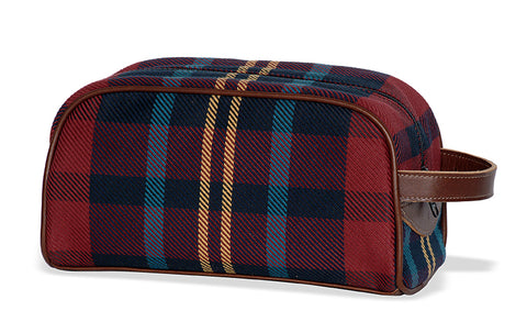 Old School Plaid Dopp Kit