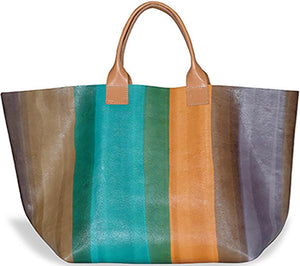 Hand Painted Stripes Tote