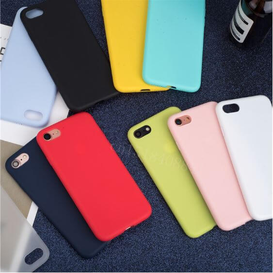 Luxury Soft Back Matte Color Cases for iPhone
