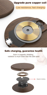 Black Wood Wireless Charger