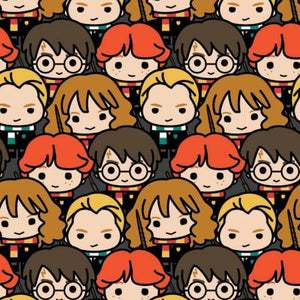 Camelot Fabrics: Multi Harry Potter Kawaii Characters Stacked 23800228-1