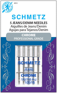 Chrome Denim Schmetz Needle 5 ct, Size 100/16 - 4012S