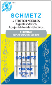 Chrome Stretch Schmetz Needle 5 ct, Size 90/14 # 4013