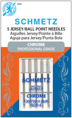 Chrome Jersey Schmetz Needle 5 ct, Size 90/14 - 4026