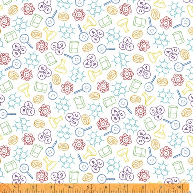 Windham Fabrics:  It's Elementary - Chem Lab 52040 -X Multi