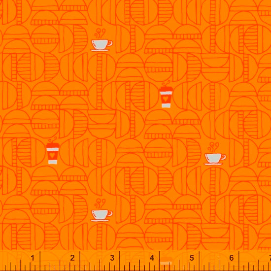 Windham Fabrics:  Favorite Things - Coffee Orange - 52156-6