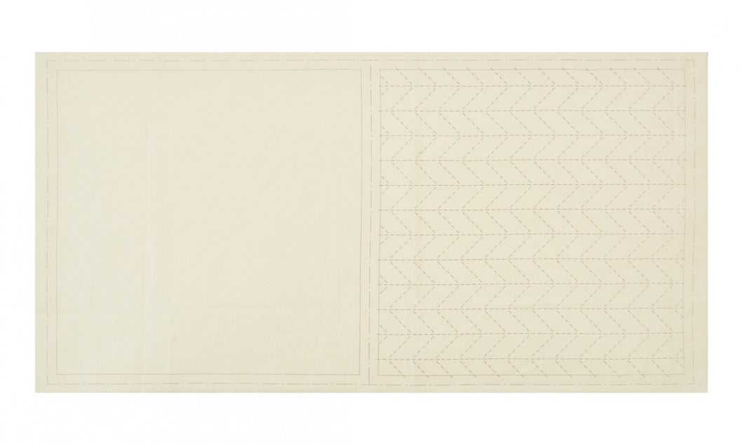 Cosmo: Sashiko Cotton & Linen Precut Fabric - Herringbone - Off White - 98908-10