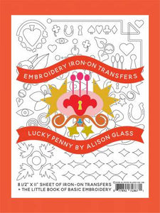 Embroidery Iron-On Transfers:  Lucky Penny by Alison Glass