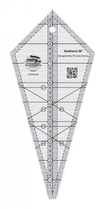 Creative Grids Starburst 30 Degree Triangle Quilt 9-1/2in Ruler - CGRISE30