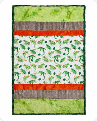 Shannon Fabrics: Cuddle Kit Pic Perfect Leap Frog, 38in x 58in - CKPICLEAPFRO