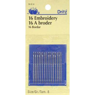 Embroidery Needles sz 8 - DRI56E-8