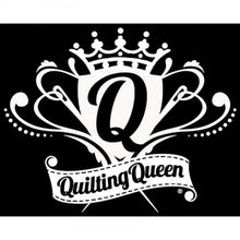 Load image into Gallery viewer, Vinyl Window Decal - Quilting Queen Crest - FFD125