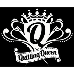 Vinyl Window Decal - Quilting Queen Crest - FFD125