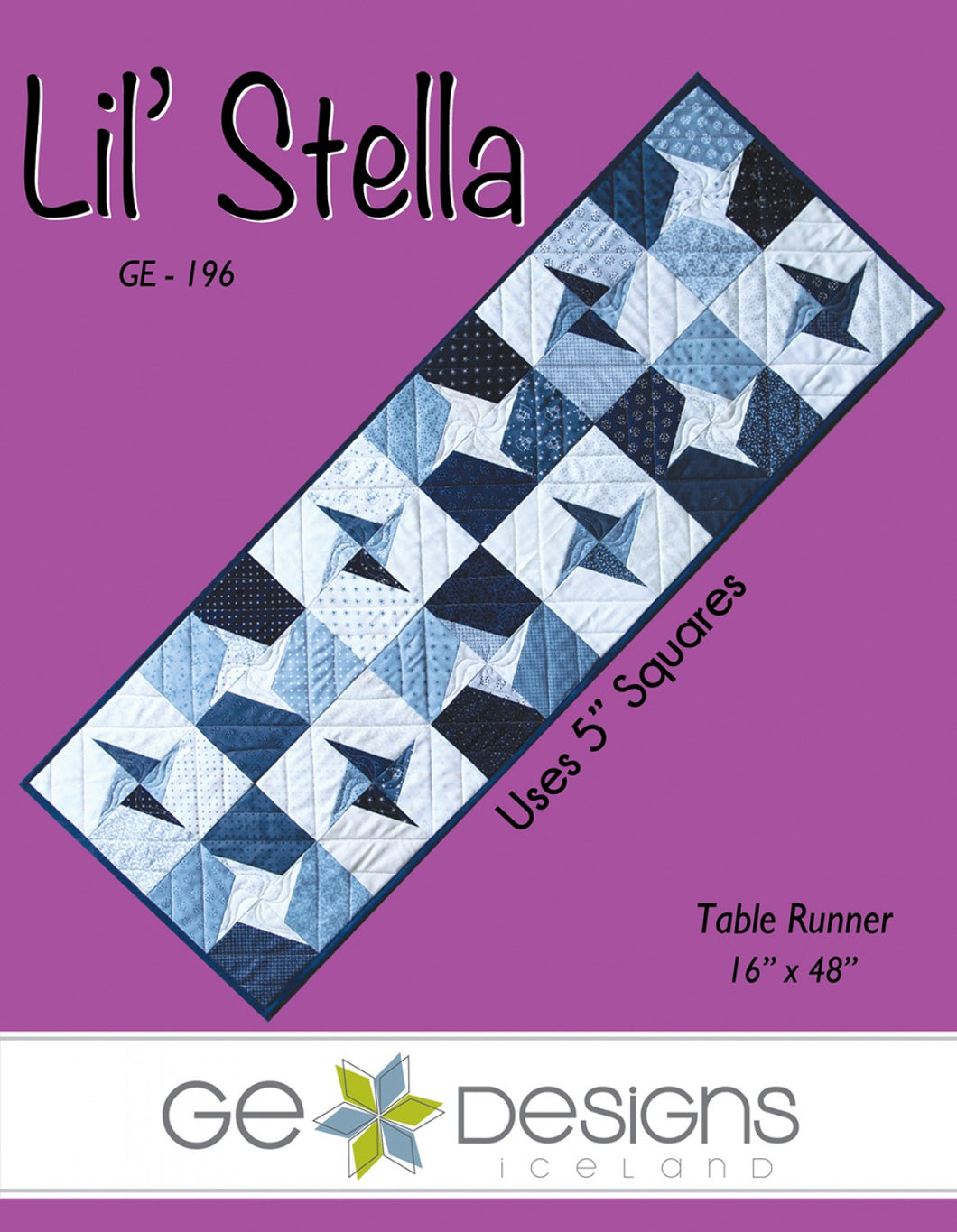 G. E. Designs: Lil Stella Table Runner Pattern