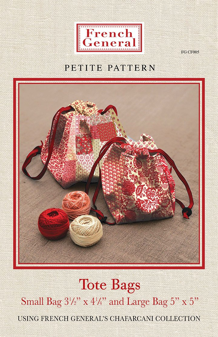 French General: Petite Pattern Tote Bags - FGCF005