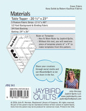 Load image into Gallery viewer, Jaybird Quilts: Hexagon Table Topper Pattern