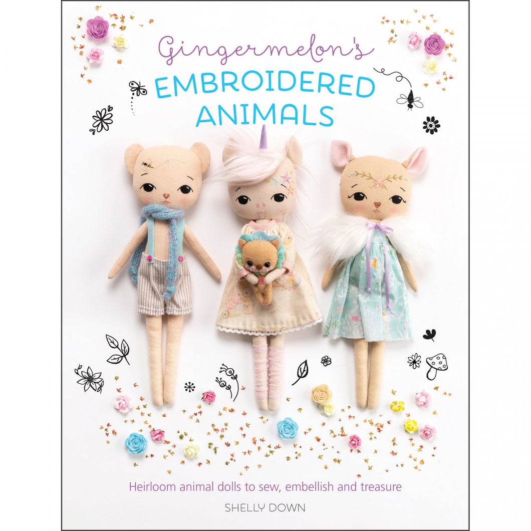 Gingermelon's Embroidered Animals - Book
