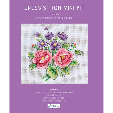 Mini Cross Stitch Kit - Roses
