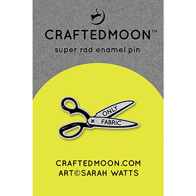 Moda Enamel Pins - Fabric Only Scissors CM ENP 005 Craftedmoon