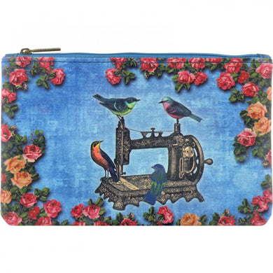 Zippered Birds on Sewing Machine Pouch