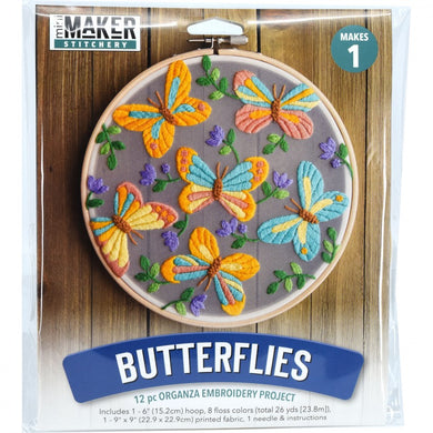 Mini Maker:  Stitchery Kit - Butterflies