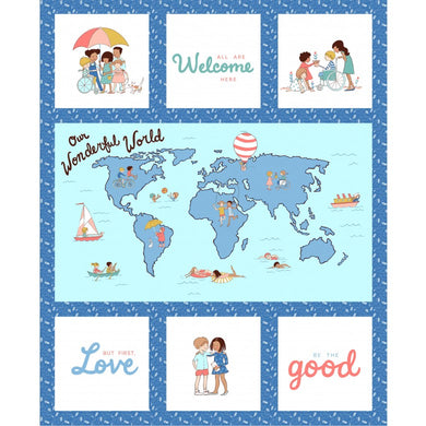 Michael Miller Fabrics: Wonderful World by Sarah Jane - Wonderful World Panel