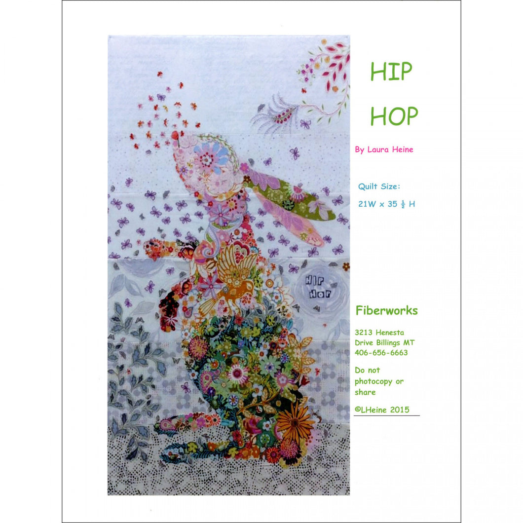 Laura Heine Patterns – Hip Hop Rabbit Collage - LHFWHIP