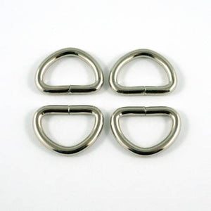 D-rings for 1/2in Straps Nickel EBDRG-12-NL