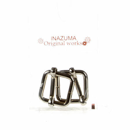 INAZUMA Original Works: Rectangle Buckle Slider For 9/16in Belt 2pk