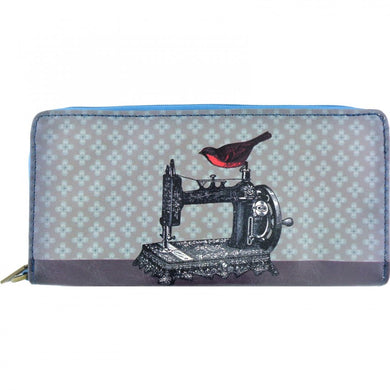 Bird on Sewing Machine Wallet