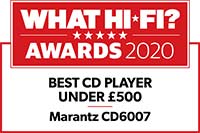 Marantz CD6007 CD player whathifi review award