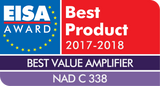 NAD C338 Awarded Top Honour by EISA - Best Value Amplifier