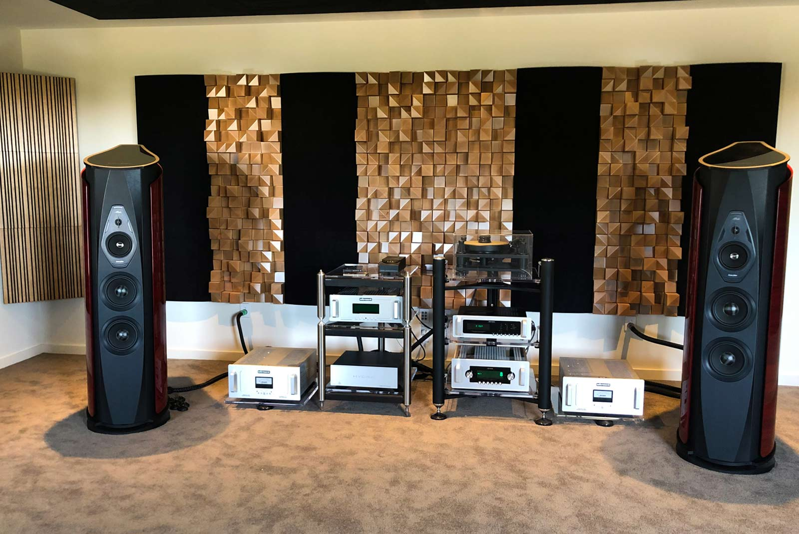 Accuphase amplifier sonus faber speakers soundline