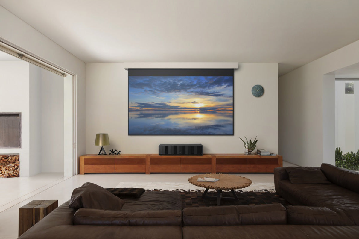 Home theatre projection screen