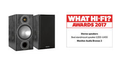 2017 What Hi-Fi Best Standmount Speaker £200 - £400: Bronze 2