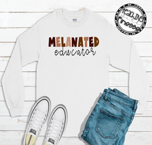 Load image into Gallery viewer, Melanin Educator Long Sleeve