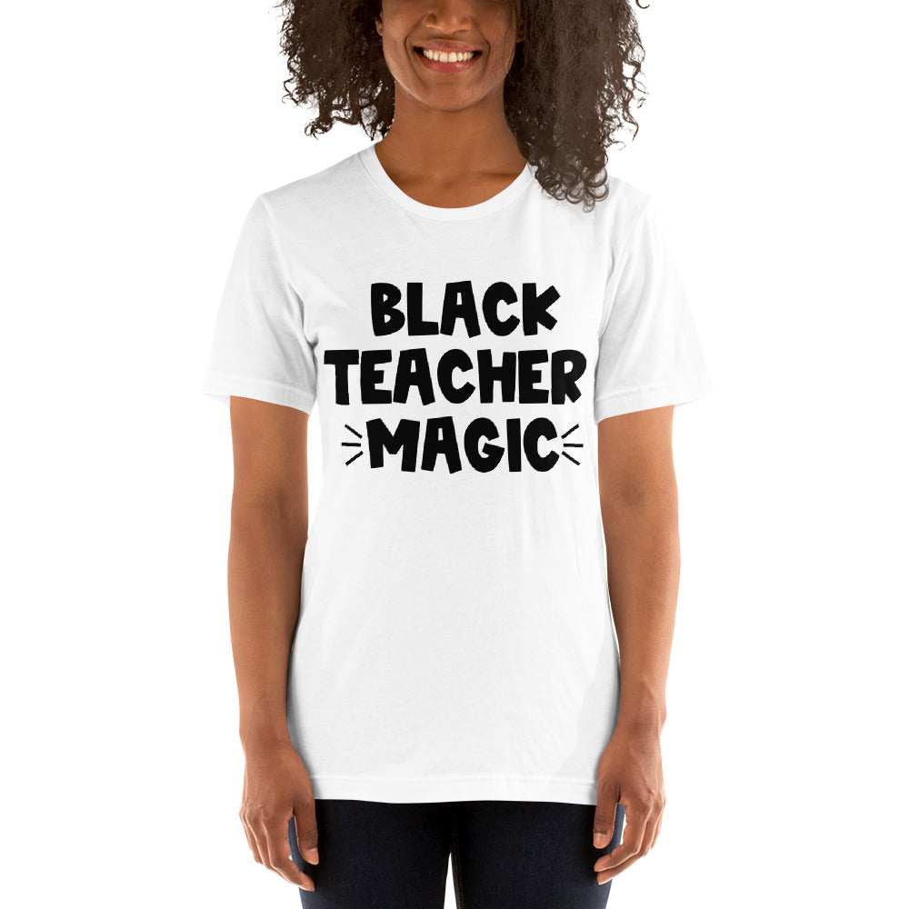 Black Teacher Magic (black font)