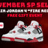 "SP Select Air Jordan 4 ""Fire Red"" Free Gift Event"