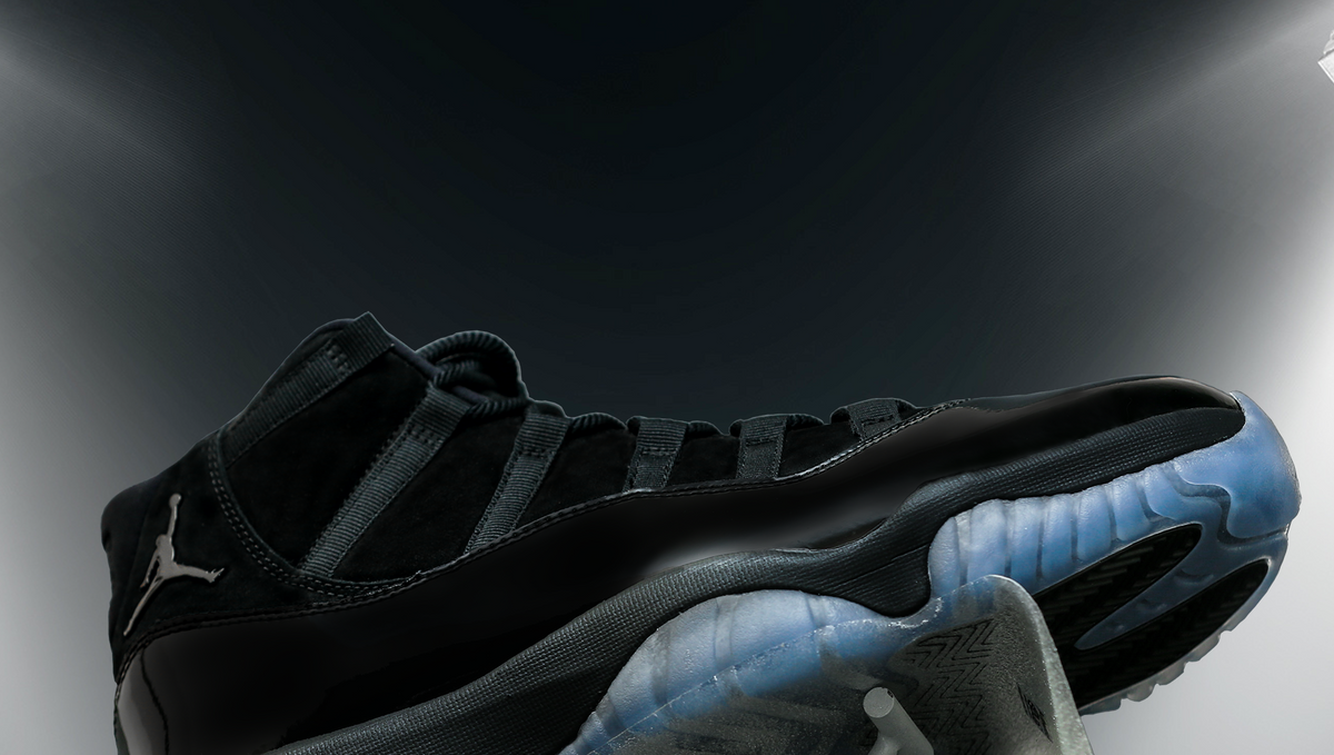 """776071bb5f30 AIR JORDAN XI """"CAP AND GOWN"""" WITH SOLE PROTECTOR® VIDS"""