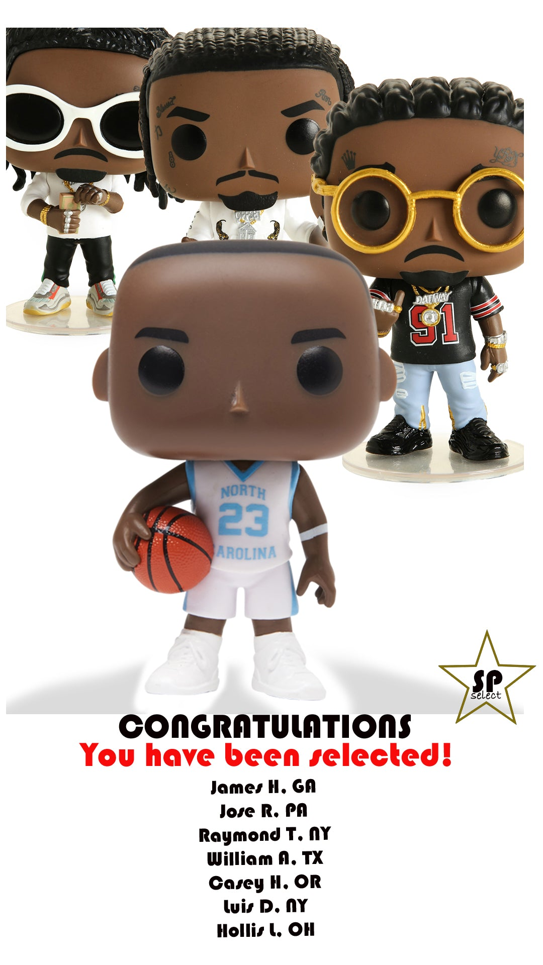SP SELECT: FUNKO POP [JORDAN X MIGOS] RECIPIENTS
