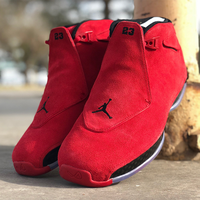 "Air Jordan 18 ""Red Suede"" Photos + Release Info"
