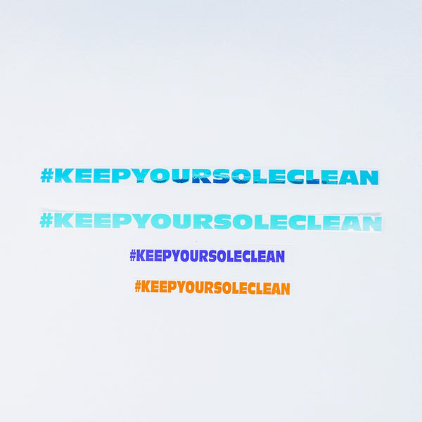 Large #KeepYourSoleClean Decal