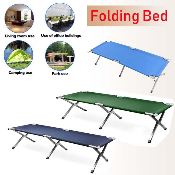 Aluminium Steel 600D PVC Oxford Outdoor Portable Folding Camping Cot with Carry Bag-Sleeping-Outdoor Scores