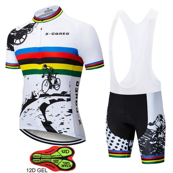 X-CQREG Men's Cycling Jersey Bib Set - outdoor-scores