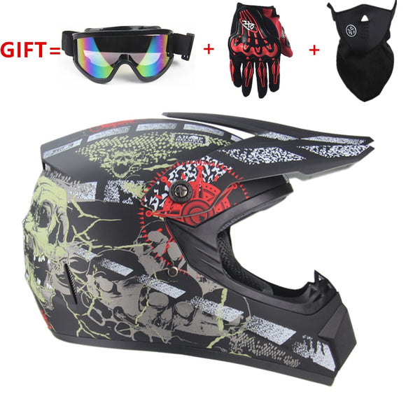 Adult Motocross Off Road Helmet  ATV Dirt bike (22 STYLES) - outdoor-scores