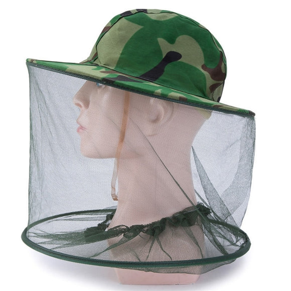 Camouflage Fishing Cap Wide Brim Visor Sunshade Protective Hunting Bee Hat Mesh-Hat-Outdoor Scores