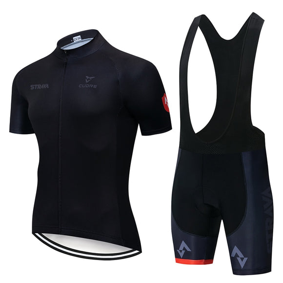 2019 Summer Strava New Cycling Jersey Short Sleeve Set (4 STYLES) - outdoor-scores
