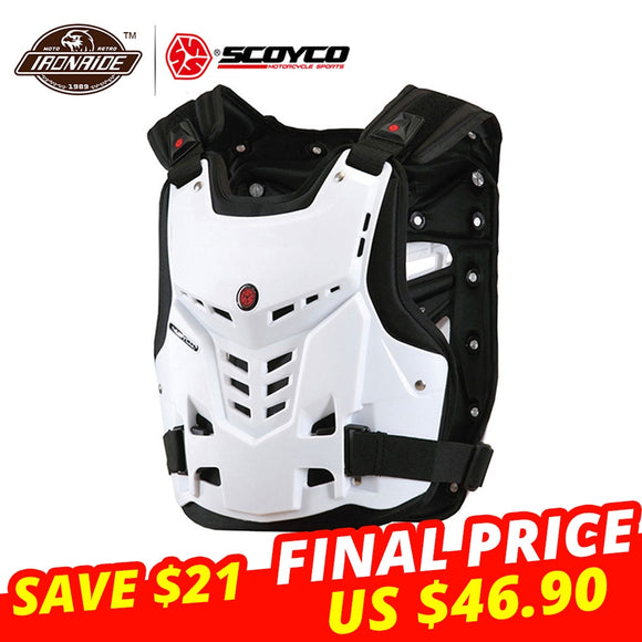 SCOYCO Motorcycle Motocross Armor Vest Chest Back Protector Chest Plate - outdoor-scores
