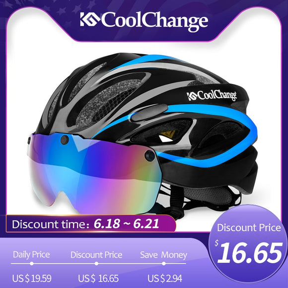 CoolChange Bicycle Helmet Windproof Lenses - outdoor-scores